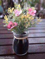 Mini Artificial Flowers Plant Desktop Vase Floral Decor Summer Spring Easter #2
