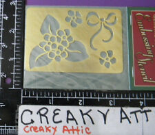 THANK YOU BIRTHDAY BEST WISHES BRASS DRY EMBOSS STENCIL EMBOSSING DARICE # 157