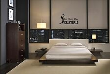 EAT SLEEP PLAY VOLLEYBALL LETTERING DECAL WALL VINYL DECOR STICKER ROOM SPORTS