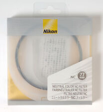 Nikon NC Neutral Color filter protection UV 77mm Kamera Farbfilter UV-Schutz