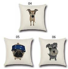Pet Dog Pillowcase Cute Animals Pattern Cushion Cover Pillows Cotton Dog5