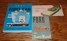 1957 Ford Car Shop Service Owners Manual Sales Brochure Lot of 3 57 Skyliner