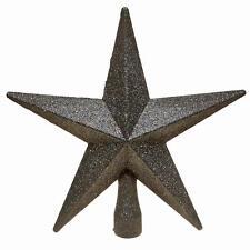 Christmas Tree Topper Decoration 200mm Shatterproof Glitter Star - 12 Colours
