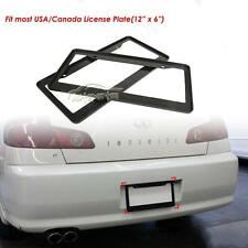 2Pcs Black Solid ABS USA Canada Standard License Plate Frame Car SUV Truck