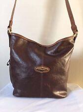 Capezio Purse Womens Brown Faux Leather Satchel Shoulder Bag