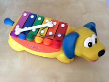 Fisher Price Vintage Rolling Xylophone Piano Wiener Dog with Bone