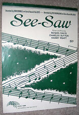 1956 SEE-SAW Sheet Music Recorded by THE MOONGLOWS, by Davis, Sutton, Pratt