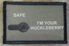 I'm Your Huckleberry AR15 Safety Selector Morale Patch Tactical ARMY Hook Flag