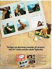 Publicité Advertising 1972 Les Cartes postales Photo Agfa Gevaert
