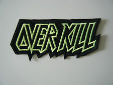 OVERKILL PATCH Embroidered Iron On Sew On Heavy Thrash Metal Band Logo Badge NEW