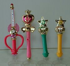 Pretty Guardian Sailor Moon Stick & Rod Wand Charm Part 2 Gashapon Full Set of 4
