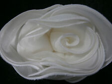 KLEINFELD WEDDING ROSE BIG FLOWER WHITE SATIN PIN DECORATION GOWN HAIR ACCESSORY