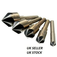5Pcs HSS Deburring Bit Chamfering Drill Countersink Set For M2 Milling Steel 82°