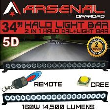 "34"" 5D HALO LED Light Bar by Arsenal Offroad HALO DRL / Super Spot-CREE 10W LED'"