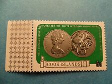 Cook Islands: 1973 QE2 5c Silver Wedding Coinage. SG419. MNH.