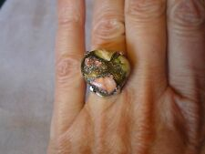 Multi Coloured Turquoise ring, size M, 10 carats, appx. 5 grams of 925 Sterling
