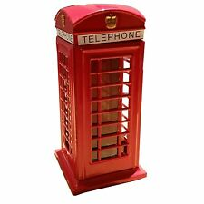 RED TELEPHONE BOTH BOX MONEY BOX SAVINGS BANK SOUVENIR GIFT BRITISH UK LONDON GB
