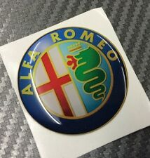 1 Adesivo Stickers ALFA ROMEO New Color 40 mm 3D resinato auto