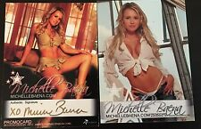 MICHELLE BAENA 2 SIDED PROMO CARD SIGNED