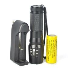 Tactical 5000LM XM-L T6 LED Zoom Flashlight Torch Bright Light+26650+Charger HOT