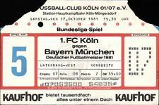 Ticket BL 81/82 1. FC Köln - FC Bayern München, 17.10.1981