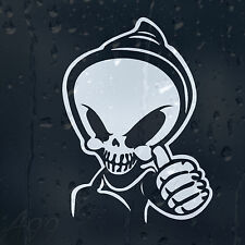 Funny Grim Reaper Smiley Dead Face Car Or Laptop Decal Vinyl Sticker