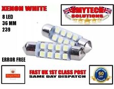 x2 36mm 8-SMD LED Xenon White Number Plate Bulbs MK 1-3 FORD MONDEO 93-05