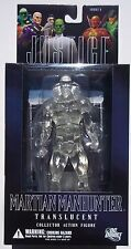 DC DIRECT. MARTIAN MANHUNTER TRANSPARENT ACTION FIGURE. JUSTICE LEAGUE SERIES 5