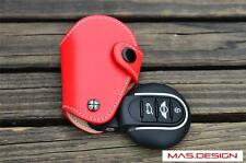 Handmade Genuine Red Leather key cover for Mini Cooper S F56 F55 F54 JCW Keyless