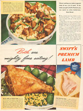 1946 vintage meat AD SWIFT'S PREMIUM LAMB  Lamb and Minted Pear recipe B011516