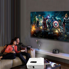 260'' Multimedia 6000 Lumens HD LED Projector Home Theater TV/HDMI 1080P 3D