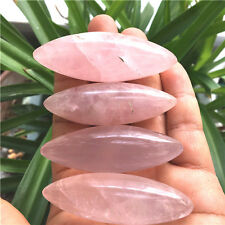 142g Natural Raw Pink Rose Quartz Crystal massage stick- heart Chakra   G399