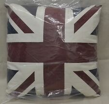 "Union Jack/British Flag Pillow 20"" Square Comes w/Insert NEW in Package"