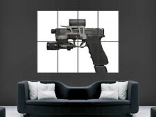 GLOCK 17 GUN POSTER WEAPON SEMI AUTOMATIC PISTOL WALL ART PICTURE PRINT