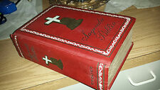 RARE! 1957 ANTIQUE CATHOLIC BIBLE -GROLIER  by Felix Torres Amat SAGRADA BIBLIA
