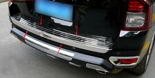 2pcs  Stainless Rear Bumper plate & Bumpe Lid Trim For Jeep Compass 2011-2015