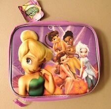 "Disney fairies 3D mold fairy princesses purple nwt 5"" w X 8 1/2""h lunch bag"