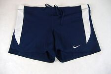 New Womens XL Nike Boy Shorts Rashguard Elastic Navy Volleyball Running Gym $28