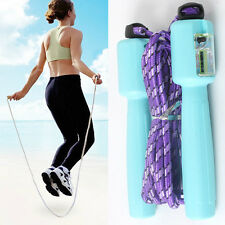 Unique Digital LCD Handle Jumping Skipping Rope Counter Timer Gym Fitness SJ