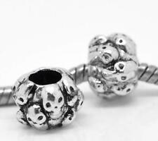 Skulls Spacer Charm Bead Fit Silver European Style Charm Bracelets m2103