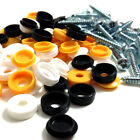 """72 PK NUMBER PLATE FIXING FITTING, 1"""" SELF TAPPING SCREWS & COLOURED CAPS (FWS)"""