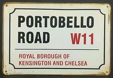 Portobello Road England Vintage Retro Metal Sign Home Garage Workshop Pub Studio