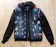 PHILIPP PLEIN JACKE L jacket pp denim patches right now