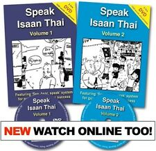 Learn to Speak Isaan Thai Course Vol 1 + 2: Book and DVD (50% OFF R.S.P!)