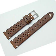 Fluco Hunter Racing Watch Strap: Vintage: Brown, Beige Dark Brown or Green (AB8)