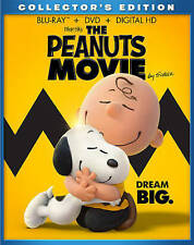The Peanuts Movie (Blu-Ray + DVD + Digital HD, 2015) SEALED W/ Slipcover