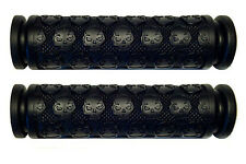 "KICK SCOOTER BLACK SKULL GEL GRIPS FITS RAZOR OTHER BARS WITH 7/8"" HANDLEBARS"