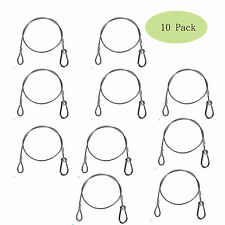 "US Stock 10 Pack 25.5"" 110lb Stainless Steel Safety Cable For Stage DJ Par Light"