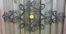 Shabby Iron Metal Wall Decor, distressed yellow flower, wall art, Shabby & Chic