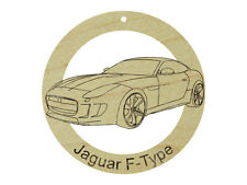 Jaguar F-Type Natural Maple Hardwood Ornament Sanded Finish Laser Engraved